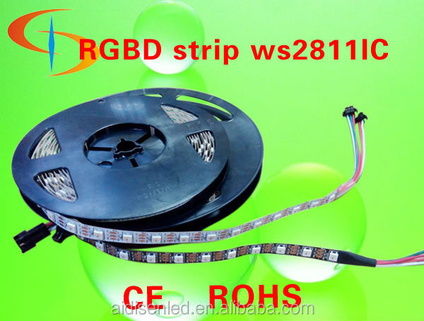 dream color dmx ws2811, 30 led /m smd 5050 flexible led strip