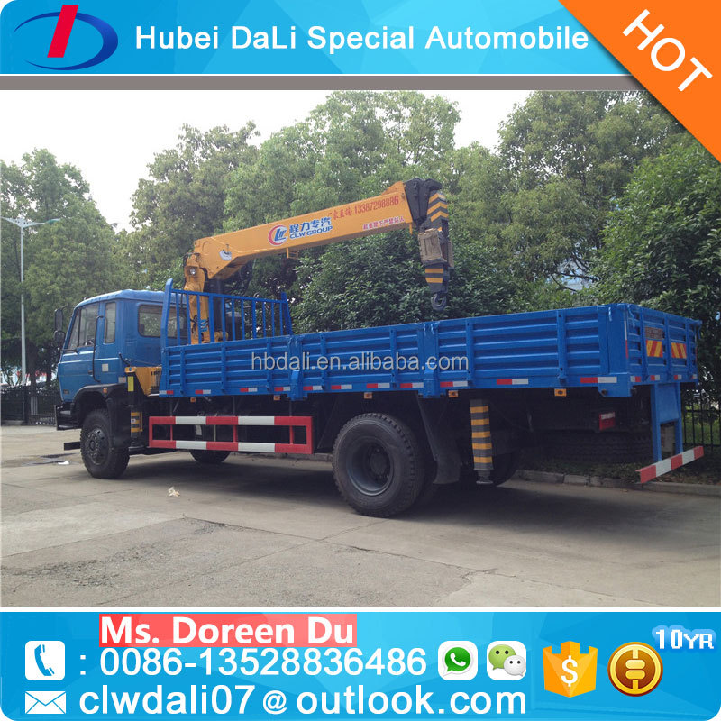 Novel Item Dongfeng chassis 7 ton pick up truck crane small crane with competitive price
