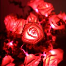 Outdoor Christmas Party Wedding Home Decoration Battery Operated 20 LED Colorful Roses Flower LED Fairy String Lights