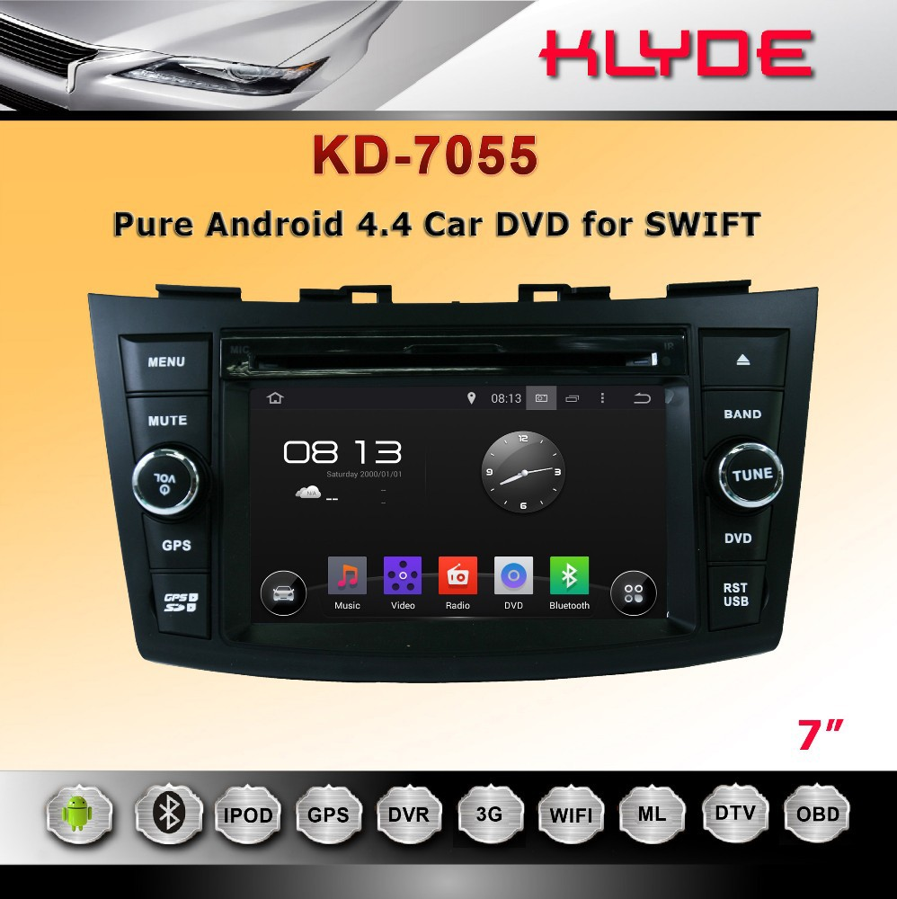 hot 7 inch HD 2 din android 4.4.4 auto radio player for SWIFT 2011-2012