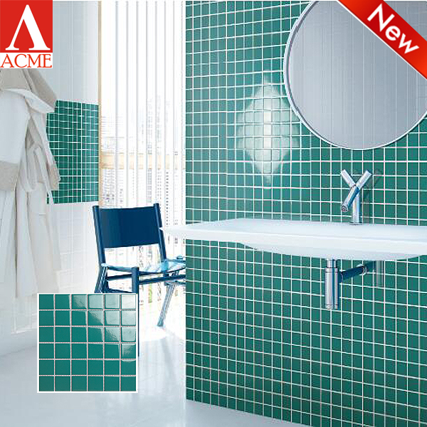 china supply hot sale green kitchen mosaic design ceramic wall tiles