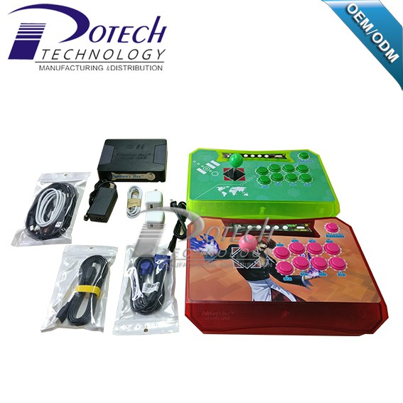 Newest Pandora Box 4S Wireless Arcade Stick Game Console work With PS3 XBOX360 PC Arcade Fighting Stick Controller