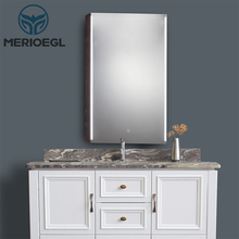 Standard design modern wall mount bathroom led mirror cabinets