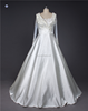 High Custom Made SHMY-W297 Long Sleeve Thick Satin A-Line Wedding Dress 2016
