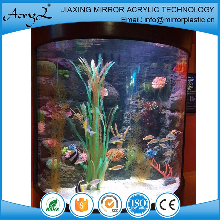 High quality factory price cylindrical glass aquariums for Cylindrical fish tank