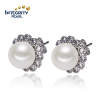 charming pearl earring design with hot selling
