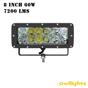 Long distance trucking transportation using auto parts 60w off road led light bar double row 8inch 60W 12v led light bar for 4x4