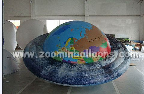 Hot selling pvc inflatable UFO shape helium balloon N1013