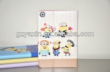despicable me case,leather flip case for ipad 4,leather smart cover case for ipad 3