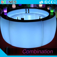 Luminated plastic color change rechargeable led lighted bar counter for sale