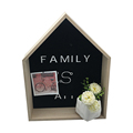 Large Collage Frame - Black Metal Decor Frame for memos photos business cards
