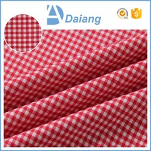 Cheap price check shirt shoe lining custom print cotton fabric wholesale