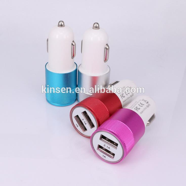 5V 2.1A 24W colorful multiple mobile phone usb car charger