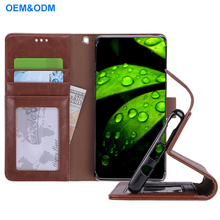 2017 New Arrival Hot Sale PU Leather Flip Wallet Case For Samsung Note 8 With Wrist Belt Photo Frame