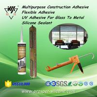 Multipurpose Construction Adhesive Flexible Adhesive UV Adhesive For Glass To Metal Silicone Sealant