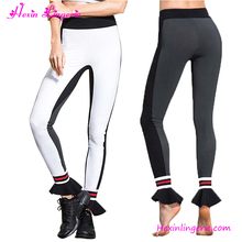 2017 new brand sexy black and white fitness nude women tights sports yoga leggings