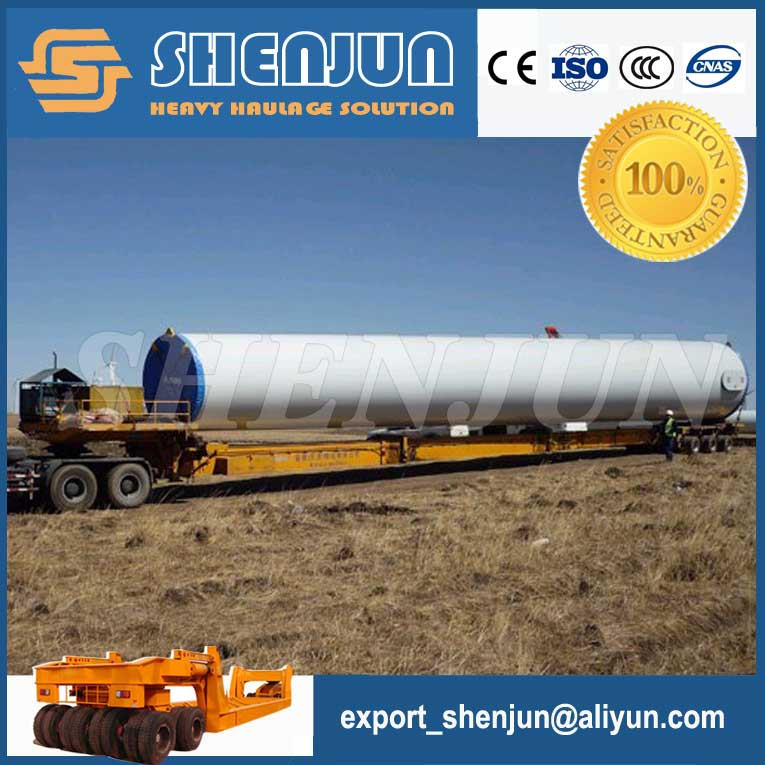 40-60 ton lowbed extendable wind turbine blades trailer for sale