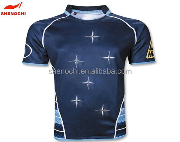 China dongguan factory OEM digital printed rugby jersey 2015 new products rugby t shirt