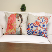 Creative Chinese Style linen fabric sublimation pillow case