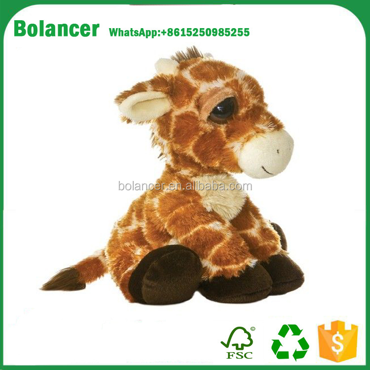 Hot selling high quality baby plush toys plush soft giraffe toy for baby