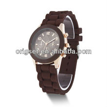 Silicone Girls Wrist Watch Quartz Rubber Jelly Band Lady Women