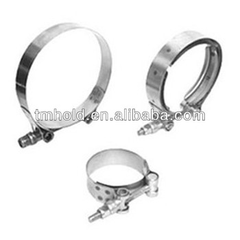 W4 seris Auto parts T bolt pipe clip/beam hose clamp of high performed