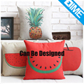 Fresh Fruit 100% polyester convas custom printed pillow cases for bed