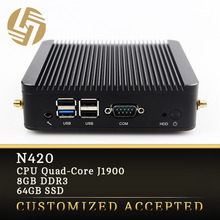 Cheap Mini Nettop PC Ultra Low Power Desktop Fanless Mini Itx