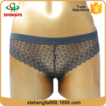 China underwear suppiler grey lace vintage satin panty for ladies