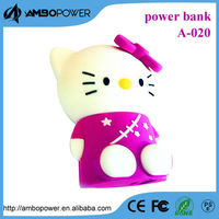 power bank 2600mah with hello kitty shape cartoon design