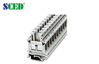 UK model terminal block Din rail terminal block 65A width12.2mm used in power filter