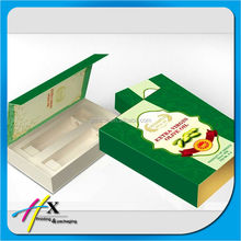 Book shape cardboard box for olive oil packaging