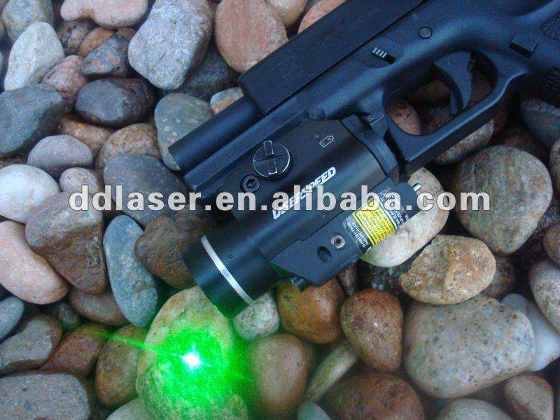 Compact Pistol Rail Mounted Tactical Light Green Laser Sight combo,subcompact rail mounted weapon light