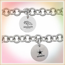 Alibaba China fashion jewelry wholesale stainless steel football team bracelet