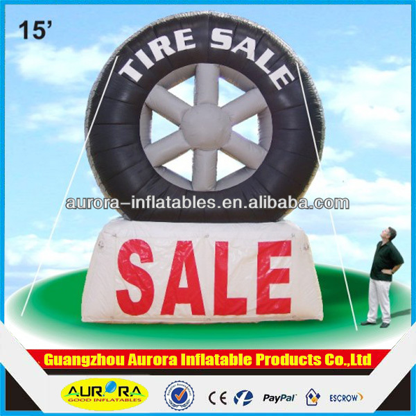 2015 New design customed inflatable tire advertising/inflatable tire cheap on sale