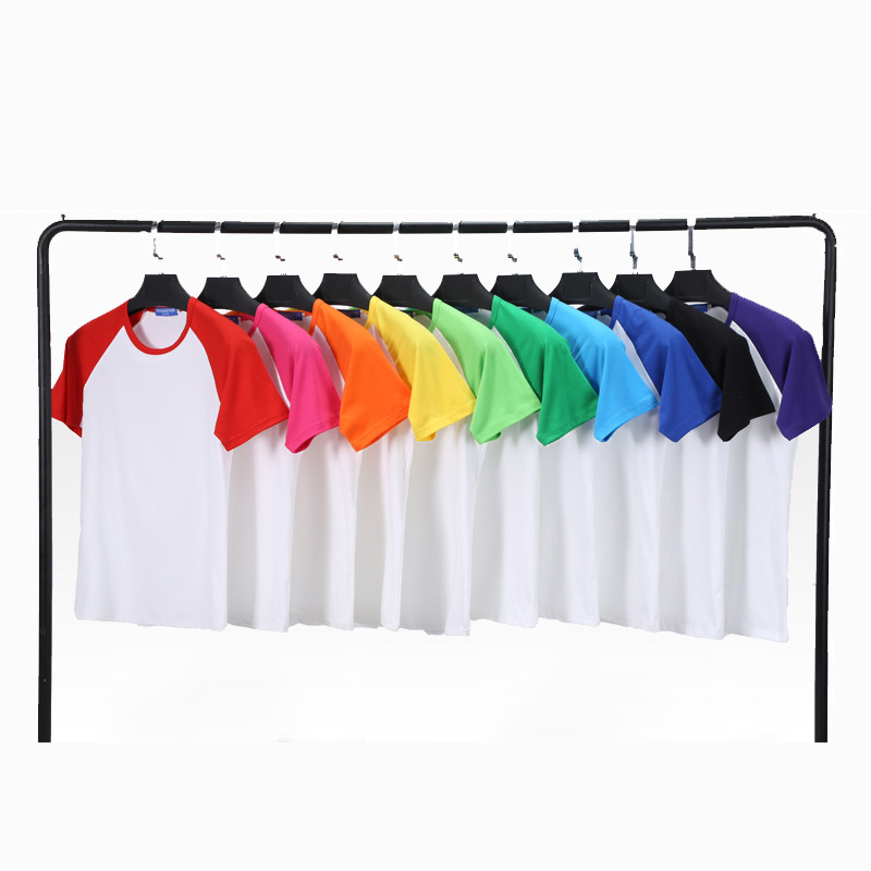 <strong>Manufacturers</strong> wholesale blank model two-tone O Neck T shirt group activities class uniform short sleeve T - shirt custom print