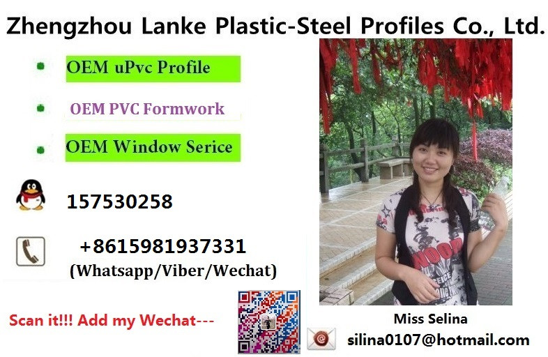Lanke selling well pvc profile machinery making co extruded upvc profiles/pvc window and door/plastic raw materials