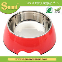 wholesale pet cat dog bowl stainless steel