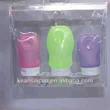 Distribute Plastic Sausage Dogs Bottles/Travel Silicone Lining Tube