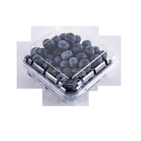 Disposable transparent plastic blister fruit packaging , Clamshell food vegetable box Container