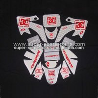 white CRF50 pit bike motorcycle fuel tank stickers