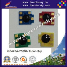 (CZ-DHU15-2) Q6470-7583 laser printer toner reset chip for HP color laserjet 3800 3800n CP3505 C3505n 3505 3505N bkcmy