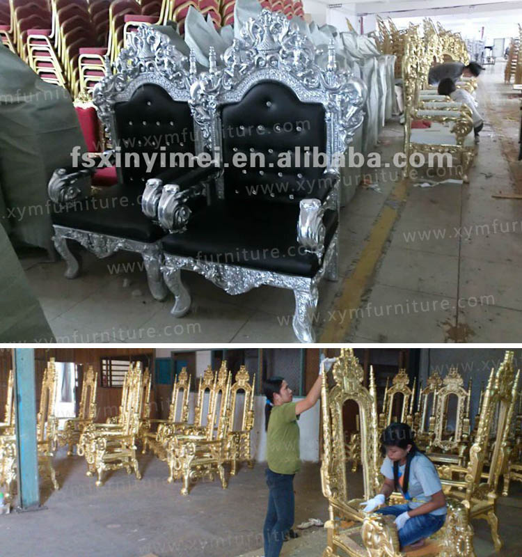 Antique Throne King And Queen Chairs XYM-H66 - Antique Throne King And Queen  Chairs - Antique King And Queen Chairs Antique Furniture