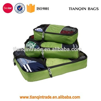 Wholesale multicolor cloth packing cubes travel storage bag