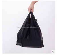 Tangjin Durable supermarket/grocery/rtail white logo plastic vest bags/t-shirt bag china manufacturer