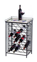 24 Bottle wine rack with mosaic top home storage rack