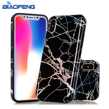 Newest laser imd marble tpu phone case for iphone X soft silicone rubber felxible and shockproof [BiaoFeng]