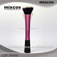 pink Long ferule design stippling brush make up