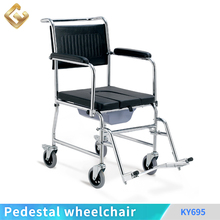 PVC seat commode wheelchair detachable footplate and armrest self propelled wheelchair