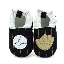 BB7003 wholesale 0-1 years old fabric moccasin baby baseball shoes, boy sport baby shoes 2017